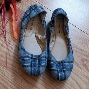 New!! Lucky Brand Ballet Flats Gray/Blue Color 7.5